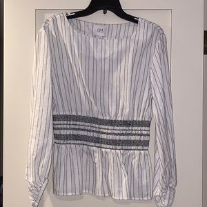 JOA Striped Blouse